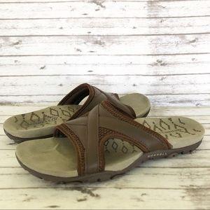 Merrell Sandspur Delta Slide Leather Sandals 8